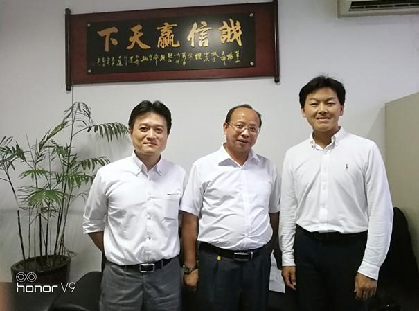 日本美和锁业株式会社海外部代表来广州艾若多公司交流会谈