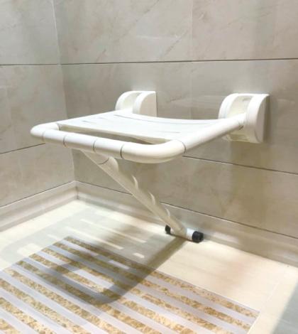 日本NAKA挂壁式可折叠淋浴椅
